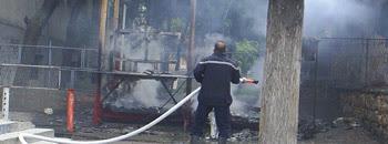 Изгоре пластичен киоск пред гимназијата
