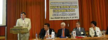 Градоначалникот зборуваше на бизнис форум во Сараево