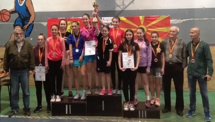 Екипите на Крива Паланка и Крушево најдобри на Државното првенство на пинг понг за кадети