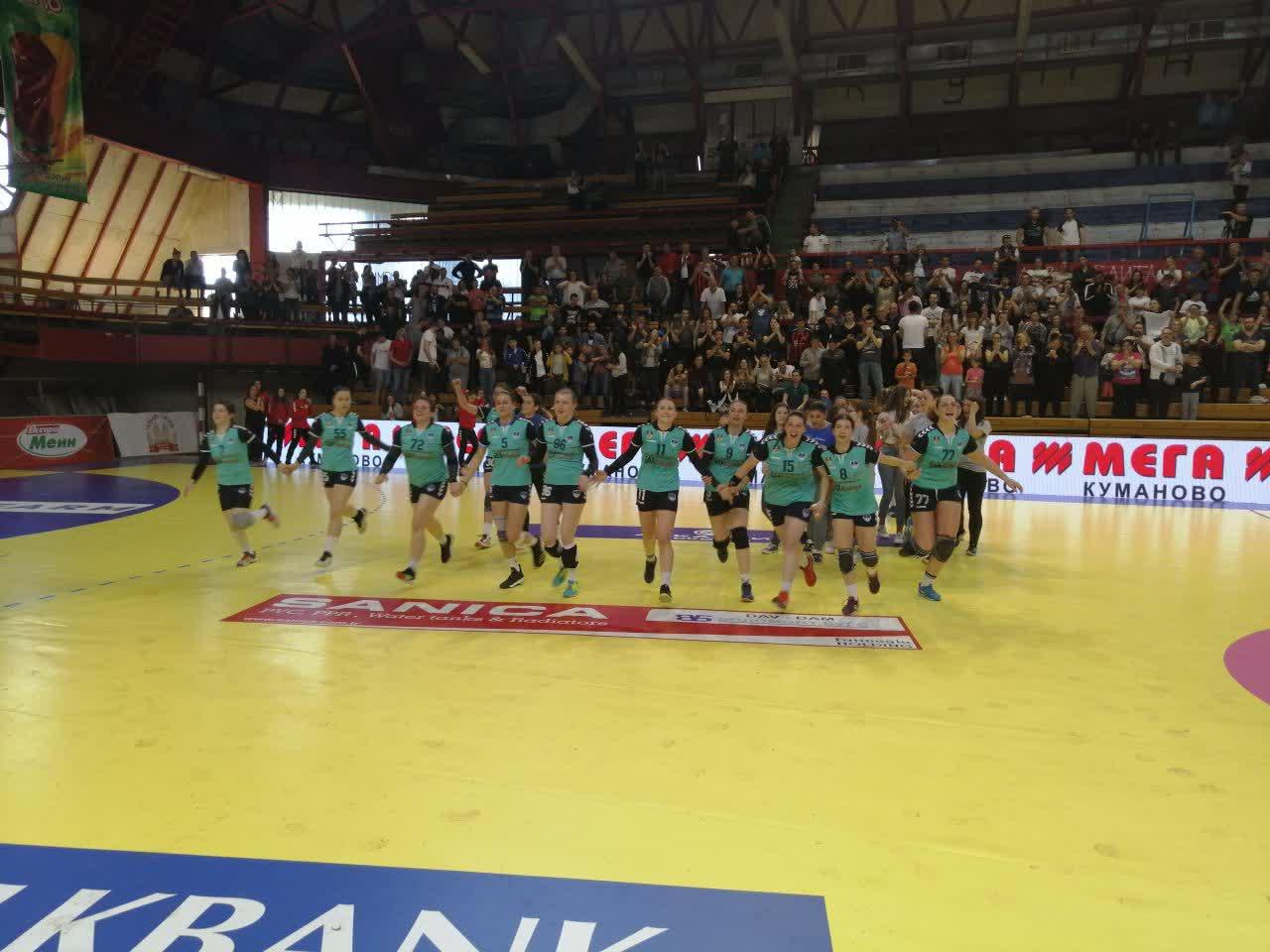ЖРК Куманово со седма победа во Првата женска лига, први на табелата