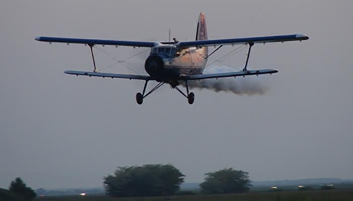 Авионско прскање против комарци во Куманово