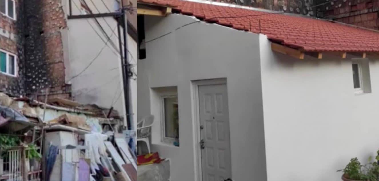 Штипскиот хуманитарец Аце Георгиевски и тајфата мајстoри реновираа изгорена куќа на семејство во Куманово