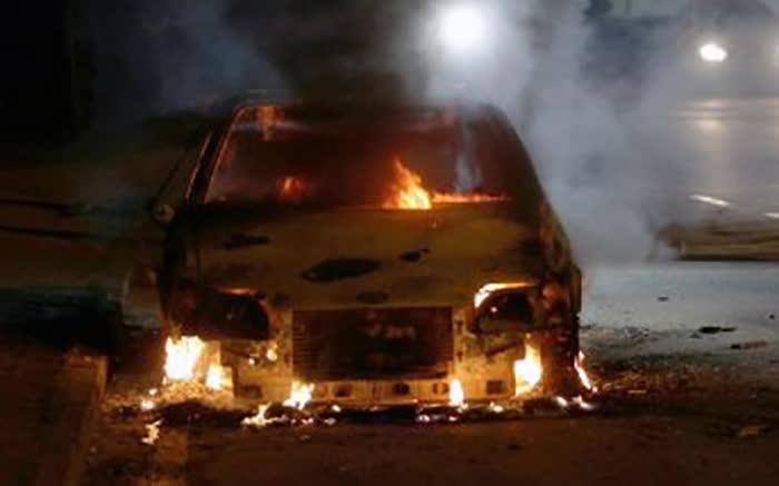 """Изгорел автомобил во движење на """"Смилчинска кривина"""""""