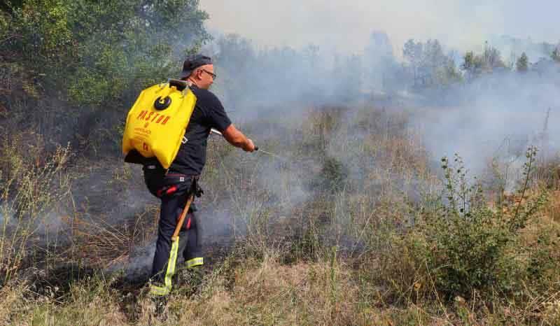 Масовно се палат стрништа - вчера 11 пожари во повеќе кумановски и липковски села