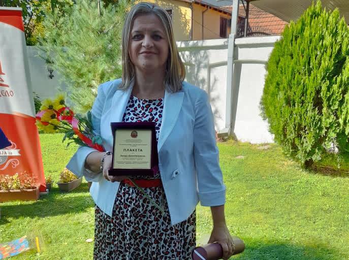 Хилда Димитриевска од Куманово меѓу најдобрите просветни работници во земјава