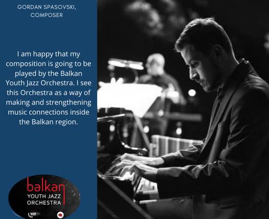 Композиција на џез музичарот Гордан Спасовски на репертоарот на Балканскиот младински џез оркестар