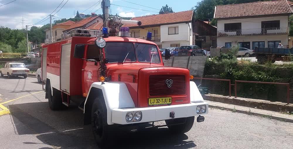 Донирано противпожарно возило за Крива Паланка