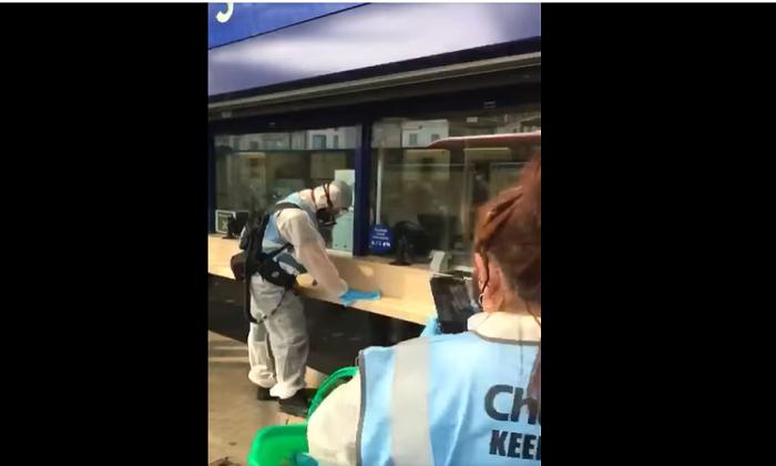 Хигиеничари на лондонска железничка станица не се фотографирале за да инсценираат лажна пандемија